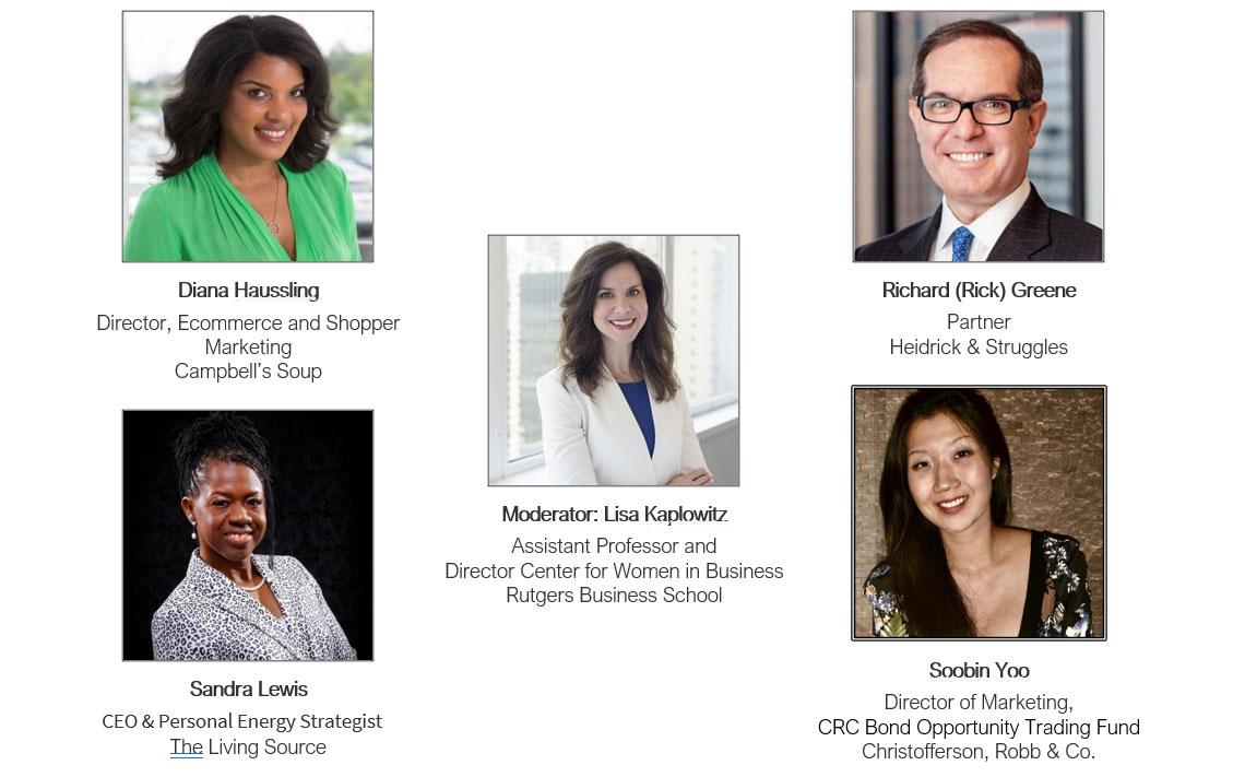 Speakers: Diana Haussling, Richard (Rick) Greene, Sandra Lewis, Soobin Yoo. Moderator: Lisa Kaplowitz