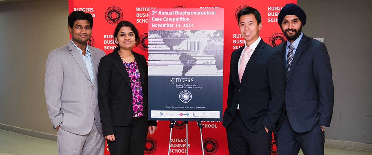 RBS pharma MBA students at case competition.