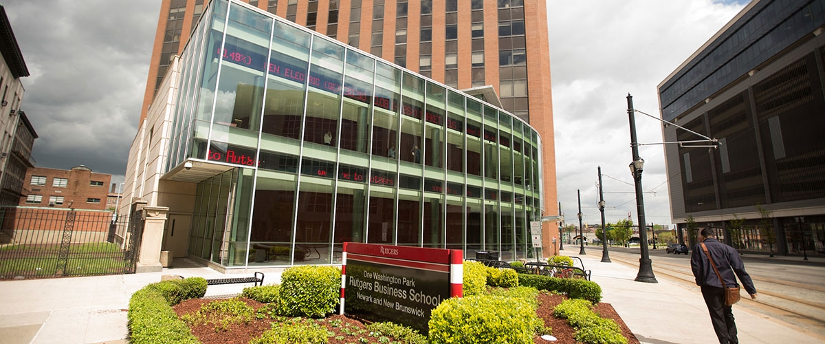 Rutgers Business School at 1 Washington Park, Newark campus.