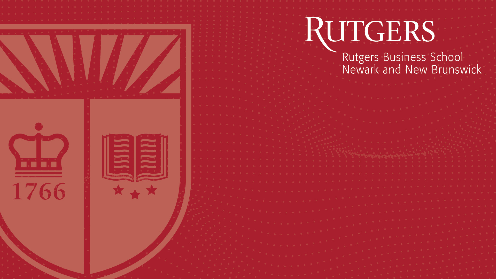rutgers red overlay with shield virtual background
